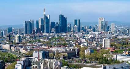 Frankfurt-Skyline Luftaufnahmen Hessen