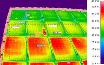 Thermografie luftaufnahme Kopter Luftaufnahme mit Drohne