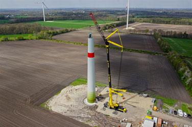 drohnenaufnahme windkraftanlage multikopter Drohne
